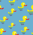 Ducks swim in pond seamless pattern Waterbird in vector image vector image