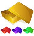Empty yellow box vector image