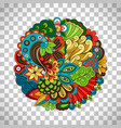 ethnic doodle floral circle like pattern vector image vector image