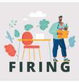 firing man go away vector image