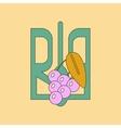 flat icon on background emblem of Ukraine vector image vector image