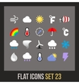 Flat icons set 23 vector image vector image