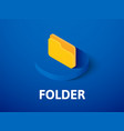 folder isometric icon isolated on color vector image vector image