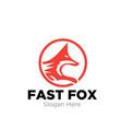 fox logo designs vector image vector image