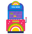 game machine you win cars racing on road playing vector image