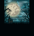 halloween vintage colorful template vector image