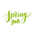 hand drawn lettering spring sale green isolated vector image