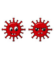 happy and angry coronavirus characters funny vector image