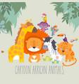 happy jungle animals best friends vector image vector image