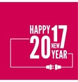 Happy new year 2017 vector image vector image