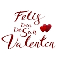 Happy Valentines translated from Spanish Feliz vector image