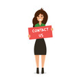 holding girl poster vector image vector image