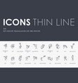 kite thin line icons vector image vector image
