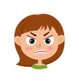 little girl angry face expression set of cartoon vector image vector image