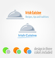 Logo with Cloche Platter vector image