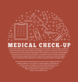 Medical diagnostic checkup graphic design concept vector image vector image