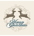 merry christmas reindeer decoration card vector image vector image