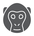 monkey glyph icon animal and zoo vector image