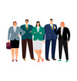 office working people set vector image vector image