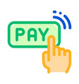 one click touch payment thin line icon vector image vector image