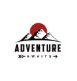 outdoor adventure travel mountain landscape vector image