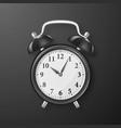 realistic 3d black retro alarm clock vector image