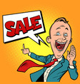 salesman businessman sale vector image