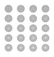 segmented circles set isolated on a white vector image vector image