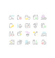 set line icons food additives vector image vector image