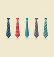 set of different ties vector image