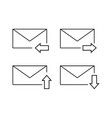 set of envelopes email icon vector image