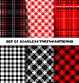 Set of seamless tartan patterns