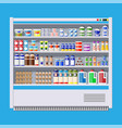 showcase fridge for cooling dairy products vector image vector image