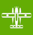 ski equipped airplane icon green vector image vector image