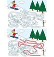 snowboard maze vector image