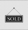 sold sign isolated sold sticker sold signboard vector image vector image