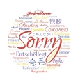 sorry foreign languages vector image vector image