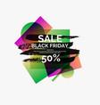 splash ink banner black friday sale original vector image vector image