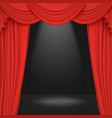 spotlight on stage curtain theater or cinema 3d vector image