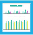 statistics and analysis of business infographics vector image vector image