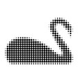 swan halftone dotted icon vector image vector image