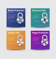 templates of social media banners with a padlock vector image