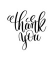 thank you black and white handwritten lettering vector image vector image