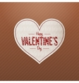 Valentines Day realistic white Heart greeting Card vector image