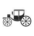 vintage carriage iconblacksimple vector image vector image