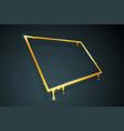 warped distorted creative golden melting frame 3d vector image vector image