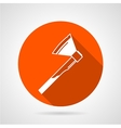 Flat icon for axe vector image