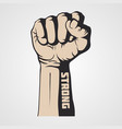 hand fist strength vector image