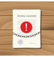 moral hazard with paper chain vector image