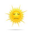 sun sleep yellow vector image